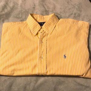 👕Ralph Lauren Stripped Yellow Long Sleeve Shirt